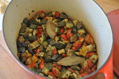 """Traditional French Ratatouille. The """"REAL"""" ratatouille - at least in the South #France home where this recipe comes from ;) Your #French grandma's cooking in your own kitchen and guaranteed to be amazing! #ratatouille #eggplant #zucchini #provence #vegetarian #vegan"""