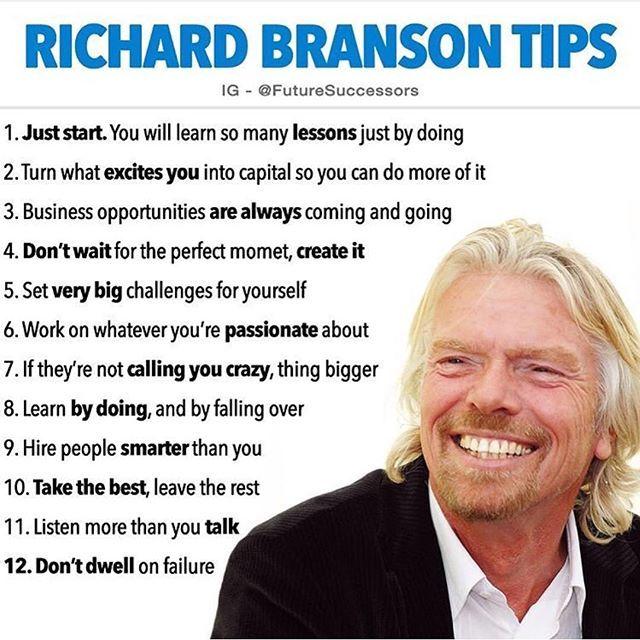 #richardbranson Tipps #lifelessons #entrepreneur #…