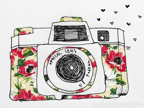 Vintage camera drawing | Art | Pinterest | Vintage cameras ...