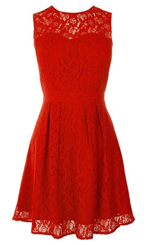 Oasis Red Lace Dress, £55 | Mobile