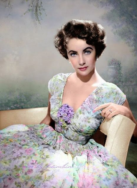 The Jewelry Lady S Elizabeth Taylor Vintage 1950s Fl Dress 50s Print Dresses In 2018 Pinterest