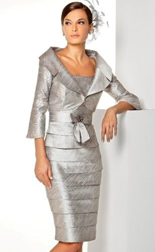 Silver Suit Perfect for Daytime Weddings.#Motherofthebride.