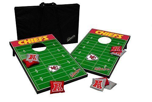 """Kansas City Chiefs Cornhole Bean Bag Toss Game by Wild Sports. Kansas City Chiefs Cornhole Bean Bag Toss Game. 36"""" x 24""""."""