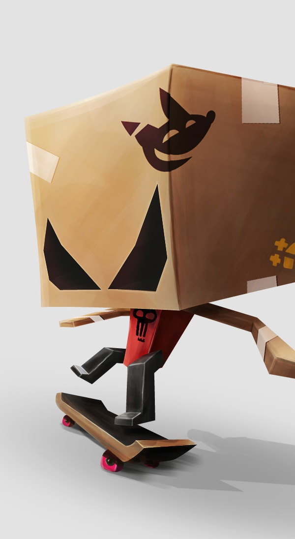 Box head 02 on Behance