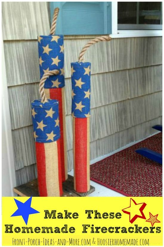 Homemade firecrackers that your family will enjoy year after year! Front-Porch-Ideas-And-More.com #firecrackers #patrioticporch #4thofjuly #hoosierhomemade