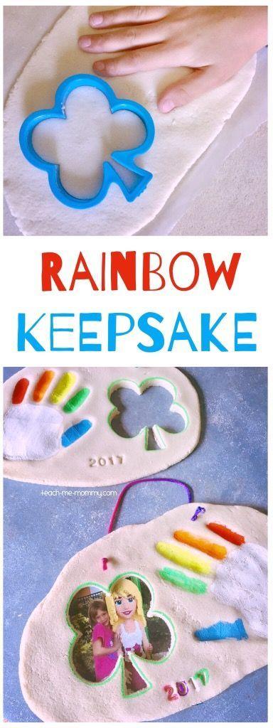 Rainbow Handprint Keepsake, add a photo too!