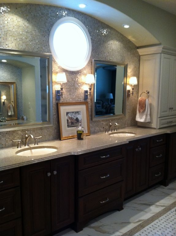 full mosaic tiles makes a great accent wall canyon cabinetry design tucson az