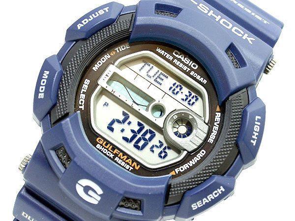 CASIO G Shock GULFMAN G 9100 2DR Titanium Case Blue Navy RARE Model!!!!!