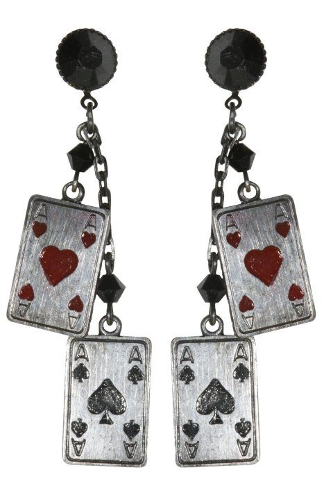 KONPLOTT earring stud dangling Las Vegas Cabaret black