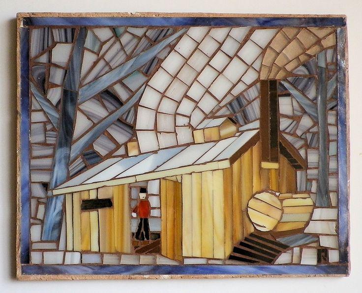 Maple Sugar Shack Mosaic FHEEG by LachanceGlassMosaic on Etsy
