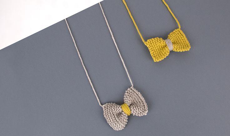 DIY gratuit pour créer un noeud papillon en laine