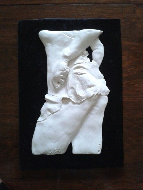 First of my new sculptures inspired by my instagram friend LDA - Find it at www.etsy.com in our shop moodycowstuff