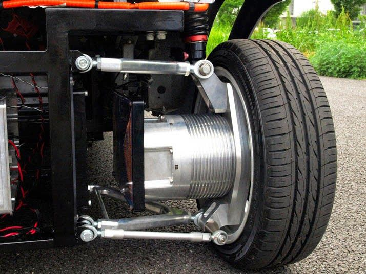 Japanese researchers have successfully developed the world's first in-wheel motor system for electric vehicles that transmits power wirelessly.  Hiroshi Fujimoto.  Protean Drive