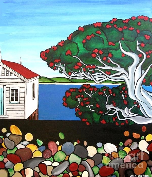 New Zealand painting with Pohutukawa. Love it