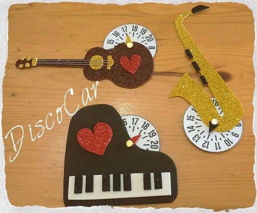 Disco orario strumenti musicali in carta eva, crepla, fommy