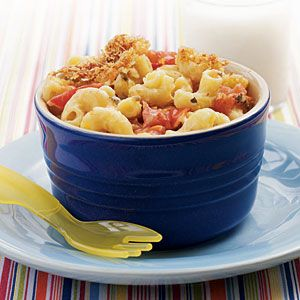 Transitional Recipes for Baby: 12-18 Months | Mac and Cheese with Roasted Tomatoes | CookingLight.com