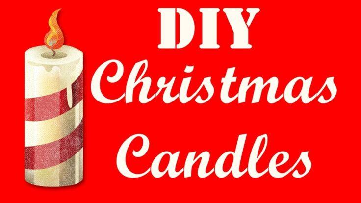 DIY Christmas candles SUPER EASY ☃️🌟🎅Χριστουγεννιάτικα κεριά πολύ εύκολα