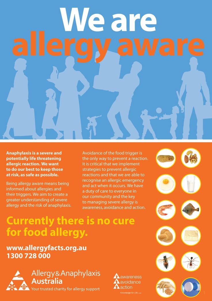 We are Allergy Aware Poster - Allergy & Anaphylaxis Australia