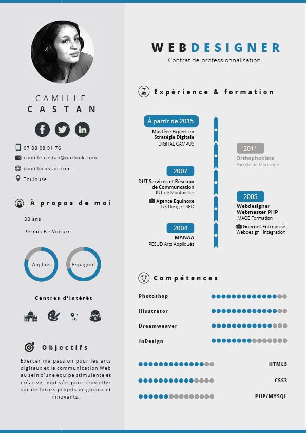 My Resume Smart Colors On Behance