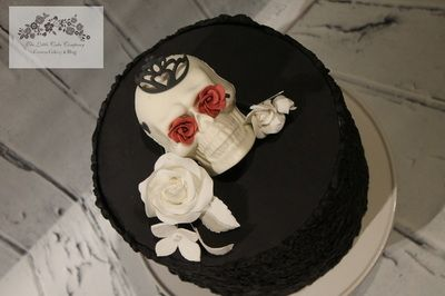 Sugar Skull Cake, Halloween Cake, Sugar Flowers