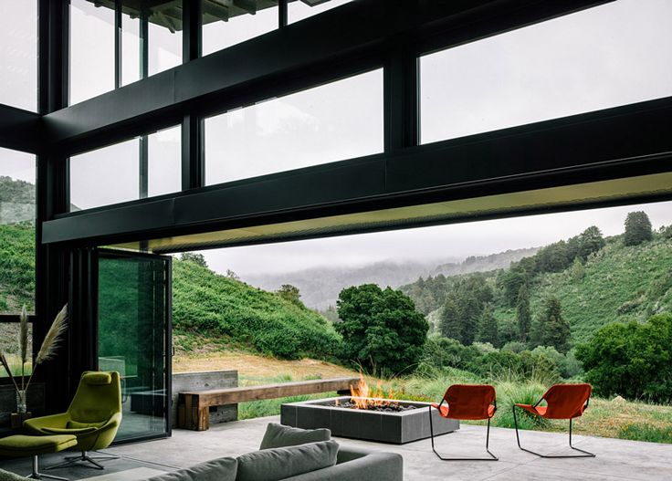 Interior with the view