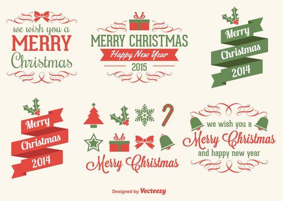 크리스마스 디자인 소스 모음 1탄 _ 무료 크리스마스 일러스트 소스,Ai파일, 벡터 템플릿 플랫디자인 아이콘