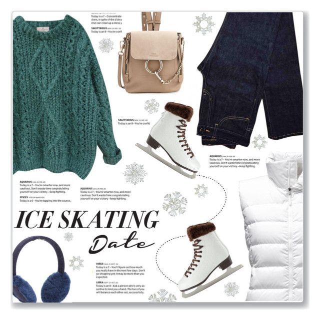 """""""Skate Date: Ice Skating Outfit"""" by kellylynne68 ❤ liked on Polyvore featuring The North Face, Essentiel, UGG Australia, Yves Saint Laurent, Chloé, iceskating, skatedate and iceskatingoutfit"""