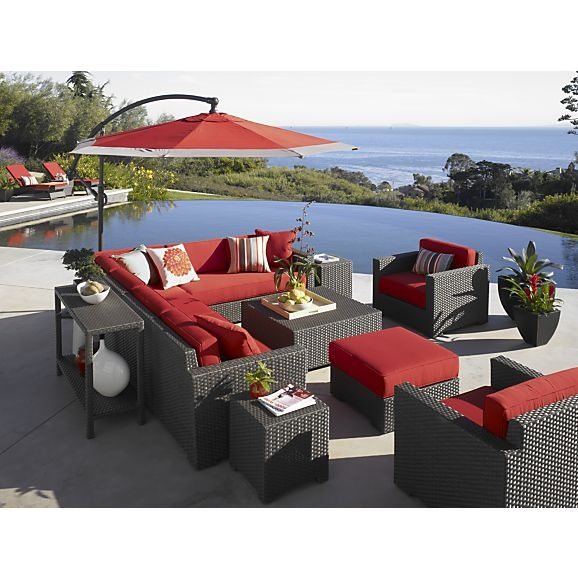 Ventura Lounge Chair with Sunbrella® Stone Cushions in Ventura | Crate and Barrel