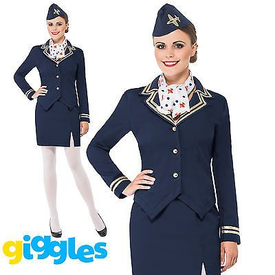 Air hostess stewardess #costume #womens ladies #cabin crew fancy dress outfit + h,  View more on the LINK: http://www.zeppy.io/product/gb/2/201518038718/                                                                                                                                                                                 More