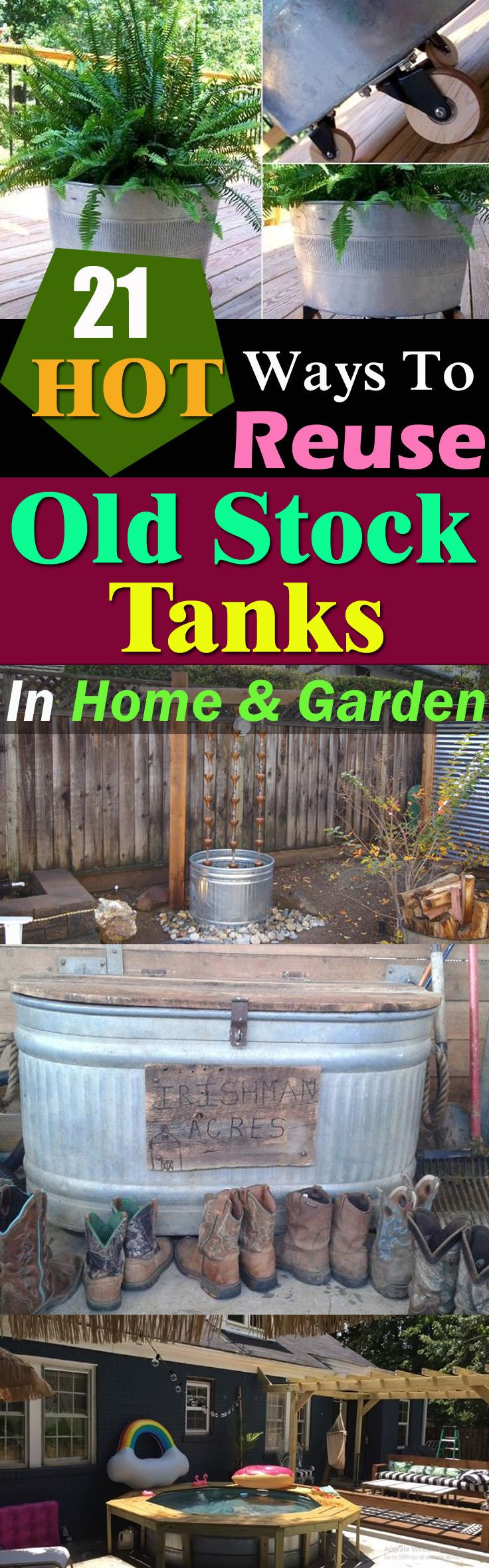 Super practical DIY stock tank ideas for your home and garden. Convert and repurpose them into something useful!