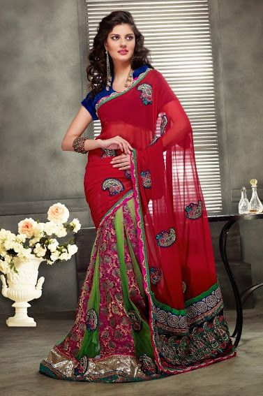 2320.  Vintage Georgette Saree   INR 4200/-