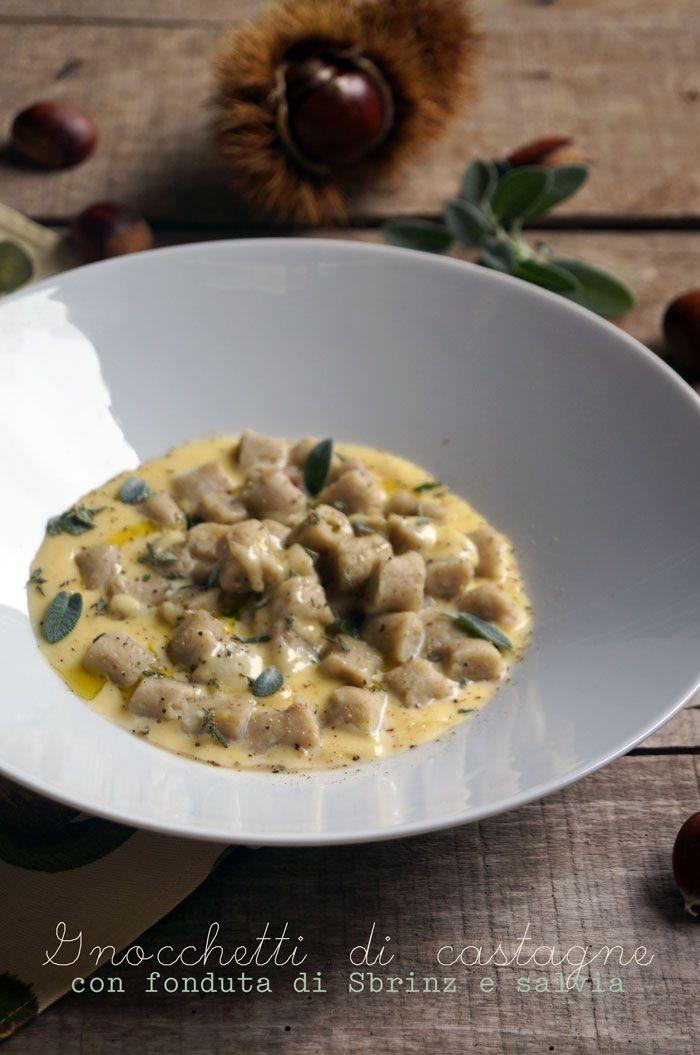 il gattoghiotto: #Gnocchetti di #castagne con fonduta di Sbrinz e salvia fresca
