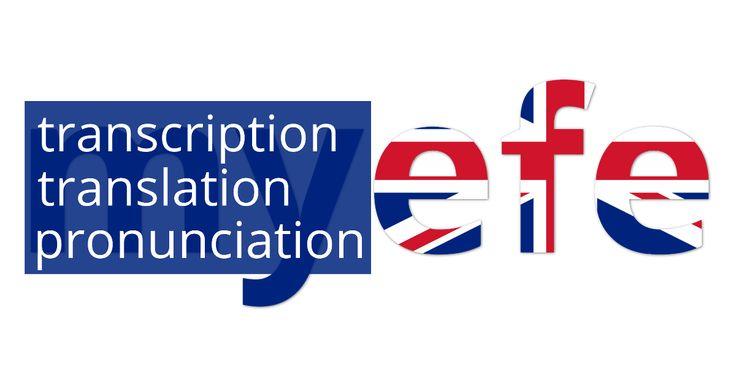 Транскрипция, произношение и перевод английских слов онлайн. Транскрипция и произношение доступно в двух вариантах: американском и британском.