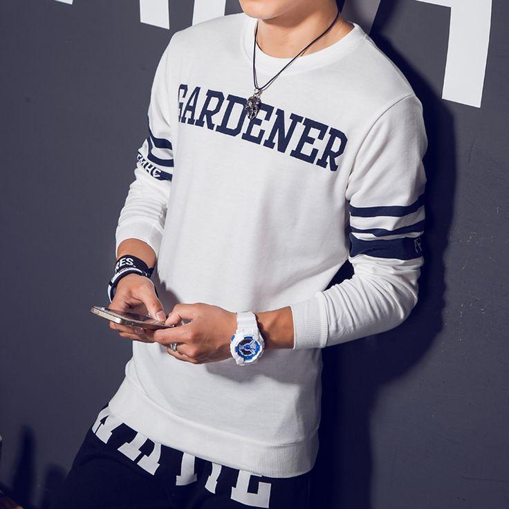 Moletom Moleton masculino Venta Caliente Regular pullover Otoño Nuevo Cabezal de Impresión de Los Hombres Fijó Masculino Coreano Tacto en Camisas y Sudaderas de Ropa y Accesorios en AliExpress.com | Alibaba Group
