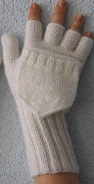 Перчатки-варежки спицами