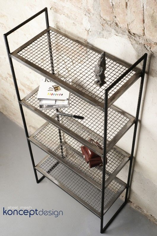 Simple steel shelf