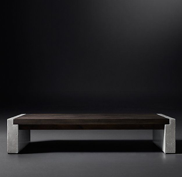 Beau RH Modern   Concrete Pier Coffee Table