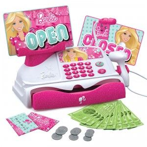 Barbie Cash Register with App not gonna lie this thing looks pretty awsome on t .v of coarse for brylie!