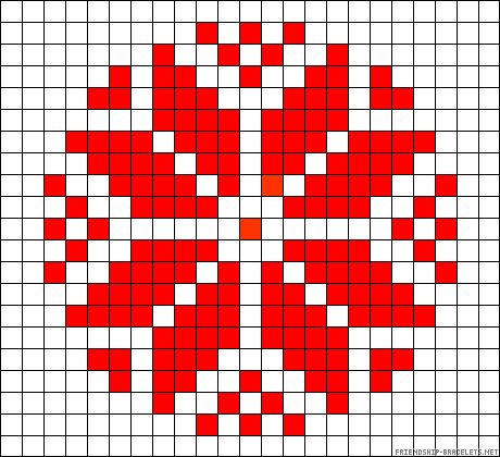 Slavic perler bead pattern