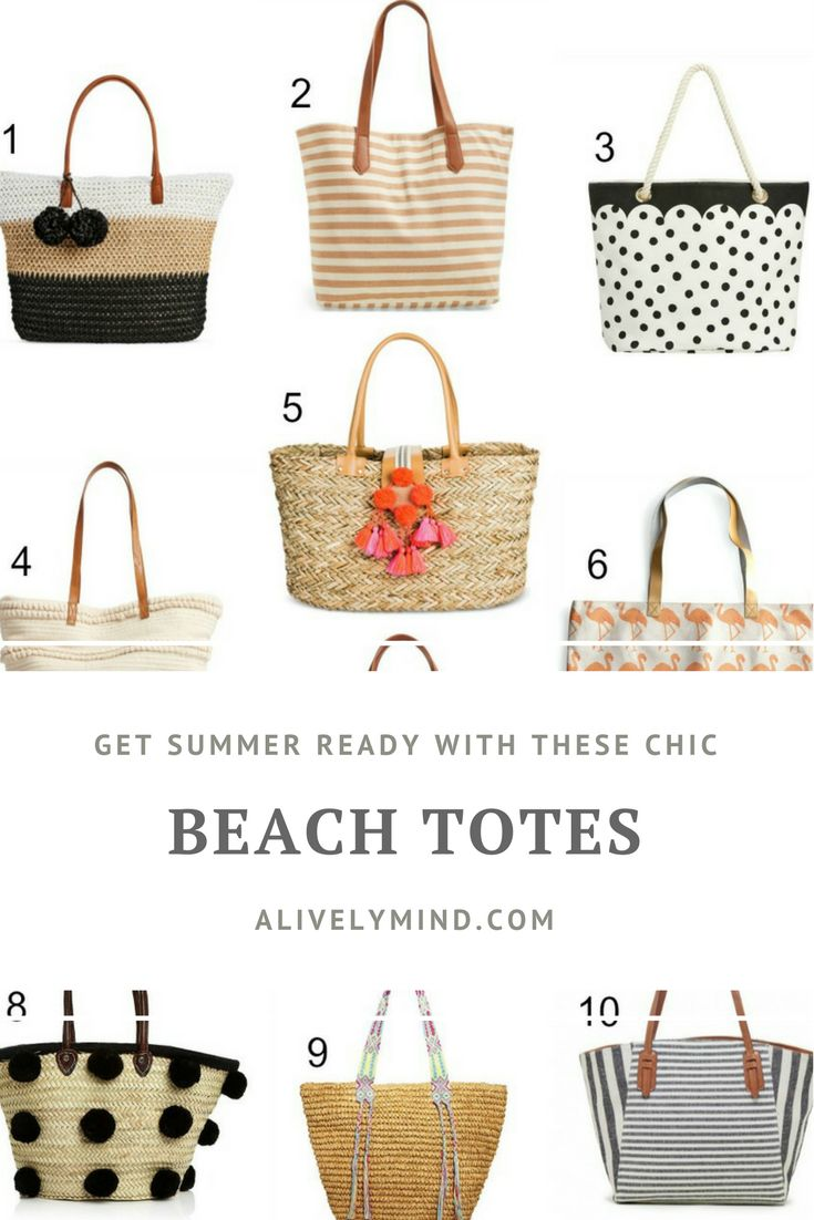 Stylish yet practical beach totes, for all budgets!