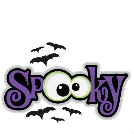 Spooky svg scrapbook title svg cutting files bat svg cut for Free halloween clipart