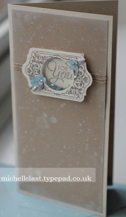 Shaker Card using Chalk Talk from Stampin' Up! - Stampin Up Demonstrator Michelle Last