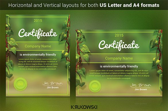 Image result for nature certificate