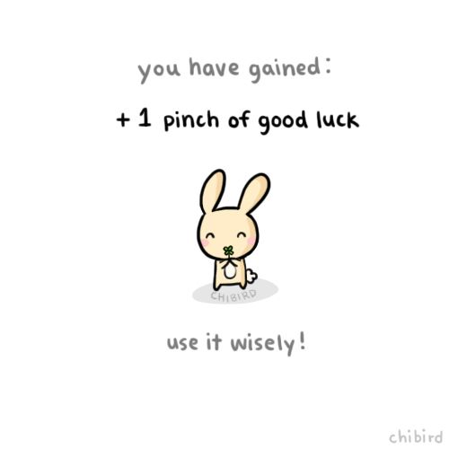 Happy St. Patrick's Day! | Chibird | Chibird, Cute animal quotes