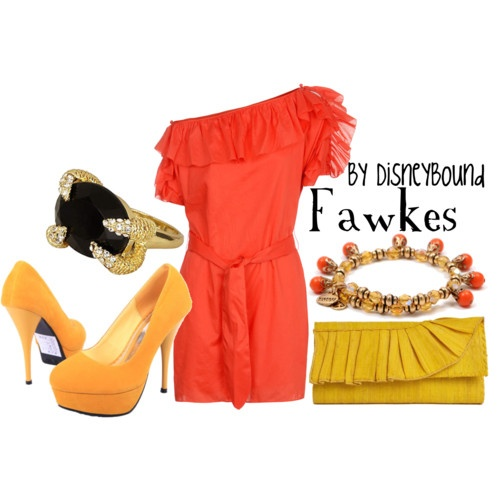 Fawkes the pheonixFawkes, Disneybound Harry, Disney Bound Outfit, Dresses Shoes, Harrypotter, Inspiration Outfit, Harry Potter, Spring Outfit, Bright Colors