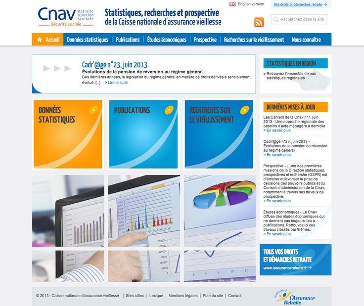 Caisse Nationale d'Assurance Vieillesse - Statistiques, recherches et prospective (Réalisation www.imagescreations.fr)
