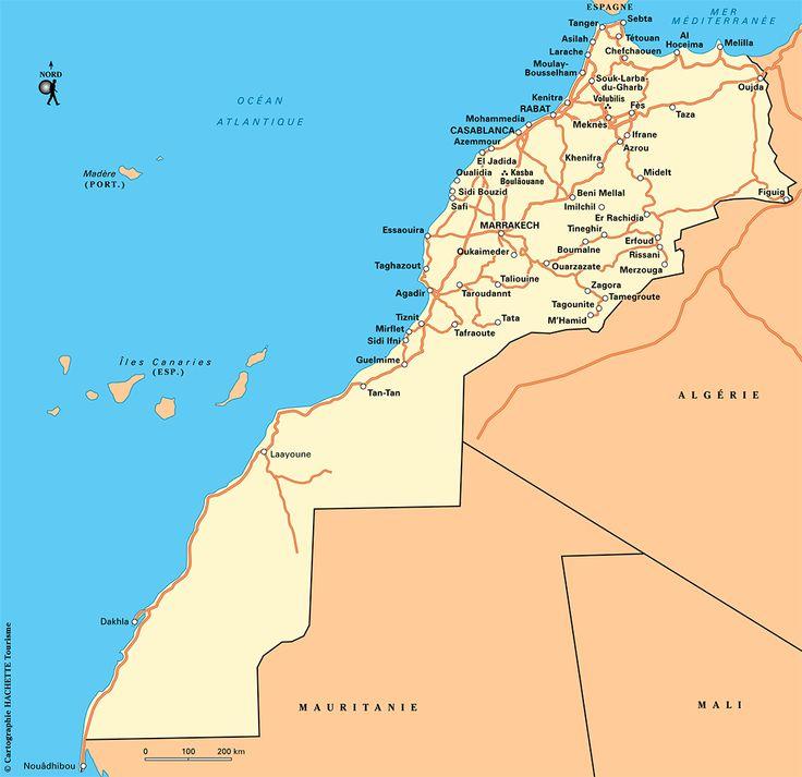 Carte Maroc - Plan Maroc