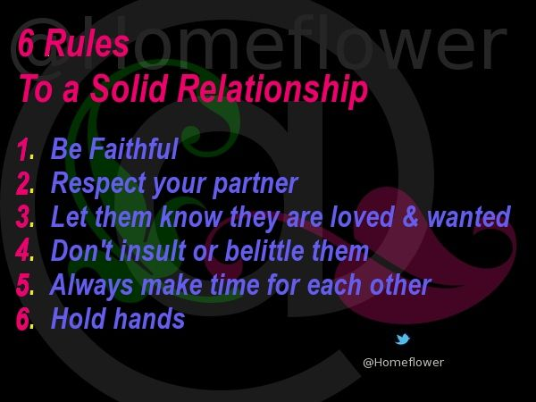 Snags, Tags & Pressies :: @Homeflower :: 6_Rules_To_A_Solid_Relationship