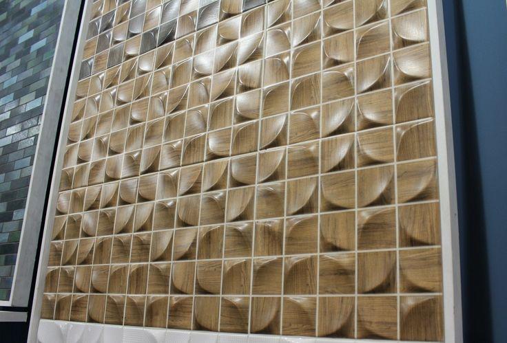 Wood looking mosaic tiles by Dune (3D Tile series)