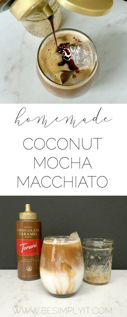 This iced coconut mocha macchiato will fuel your coffee cravings with all the…